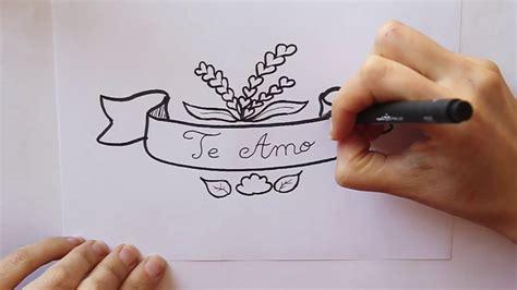 como dibujar letrero  te amo  dibuja conmigo dibujos de amor youtube