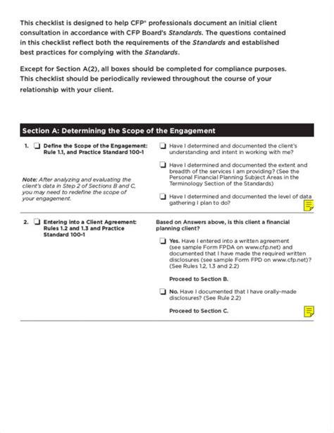 compliance checklist samples  templates