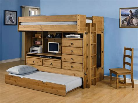 bunk bed with trundle and desk bunk bed with trundle and desk best home design 2018