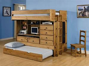 Bunk Bed With Trundle And Desk Best Home Design 2018