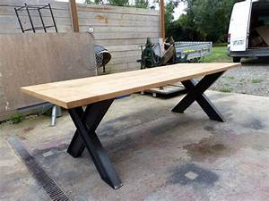 Pied De Table Metal Industriel : table industriel pied ipn et ch ne sue mesure table pinterest table industrielle table et ~ Teatrodelosmanantiales.com Idées de Décoration