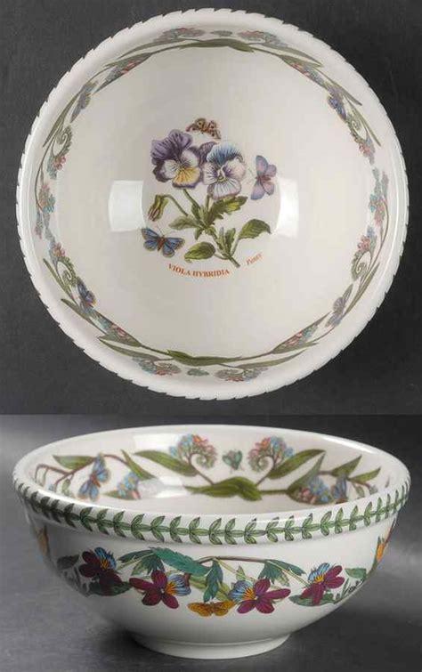 portmeirion botanic garden bowls portmeirion botanic garden pansy salad serving bowl