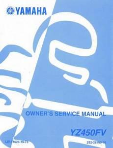 2006 Yamaha Yz450fv Motorcycle Owners Service Manual