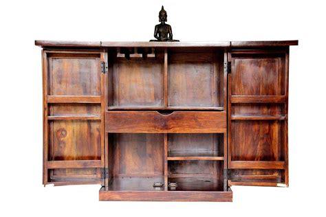 Buy Bar Furniture by Buy Compact Teak Finish Bar Bar Furniture Bar Cabinet