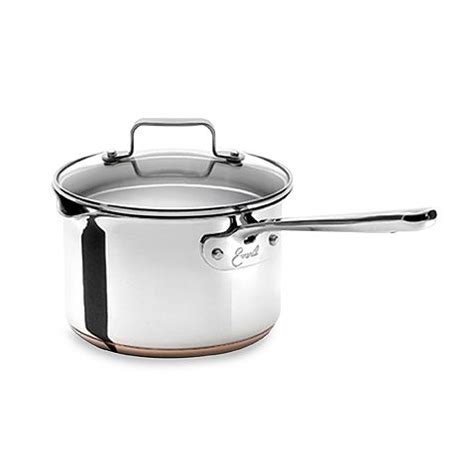 emerilware stainless steel  quart saucepan  lid saucepan kitchen gear cooking tools