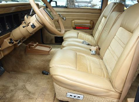 1991 jeep wagoneer interior 1988 jeep grand wagoneer front seat view classic cars