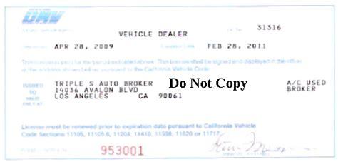 Dmv Car Sales License Practice Test