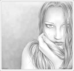 Pretty Sad Girl Drawings in Pencil