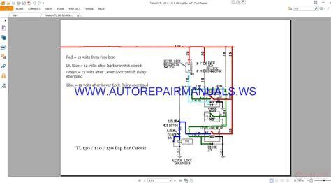 takeuchi tl120 tl200 hydraulic circuit electrical wiring diagrams manual auto repair manual