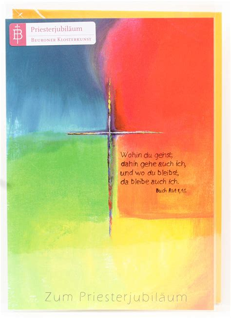 karte zum priesterjubilaeum kreuz im lebensfeld