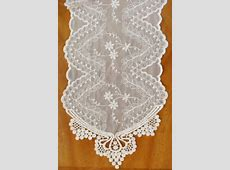Ivory Lace Runner 74in