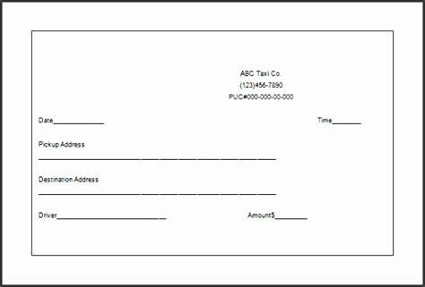 taxi receipt template  excel sampletemplatess