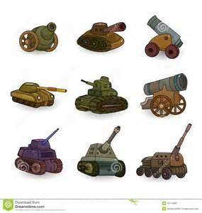 Cartoon Cannons Drawing Tanks
