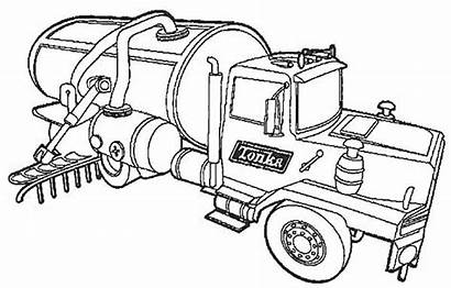Coloring Semi Truck Water Pages Printable Fresh
