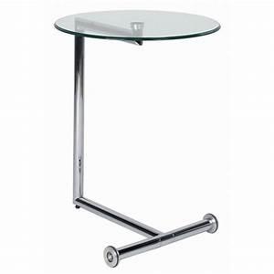 Table De Chevet Transparente : table d 39 appoint moderne easy living transparente kare design ~ Melissatoandfro.com Idées de Décoration
