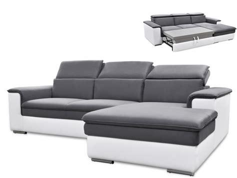 canapé convertible bicolore canapé d 39 angle convertible connor avec têtières relax 3