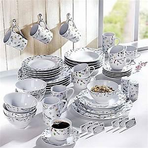 Porzellan Set Weiß : geschirr set millefiori 50 teilig bestellen ~ Markanthonyermac.com Haus und Dekorationen