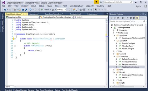 Parsing A Json File With C