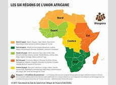 Les six régions de l'Union africaine West Africa Gateway