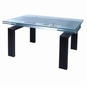 table salle a manger en verre avec rallonge valdiz With salle À manger contemporaineavec table en verre avec rallonge