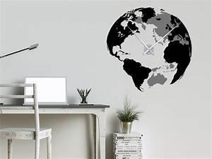 Wandtattoo Weltkarte Uhr : wandtattoos als gro e wanduhren moderne uhren mal anders xxl uhren wanduhren und das b ro ~ Sanjose-hotels-ca.com Haus und Dekorationen