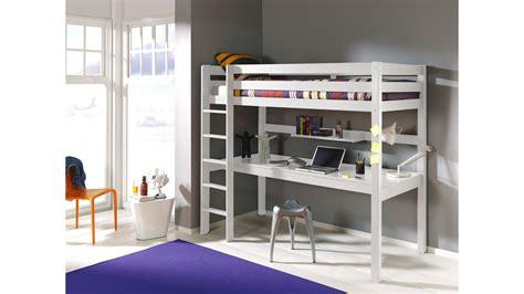 lit bureau lit mezzanine 1 place avec bureau clara en pin massif so