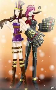 League of Legends-Caitlyn and Vi by Morikochan1 on DeviantArt