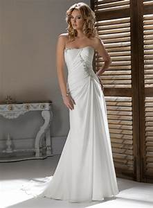 Strapless Wedding Dress With A Line IPunya