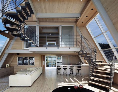 a frame home interiors beachfront a frame house with wide open interior modern