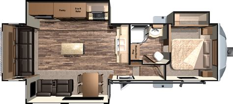 5th Wheels With 2 Bedrooms by Rv With Bunk Beds Floor Plans Bedroom Fifth Wheel Also 2