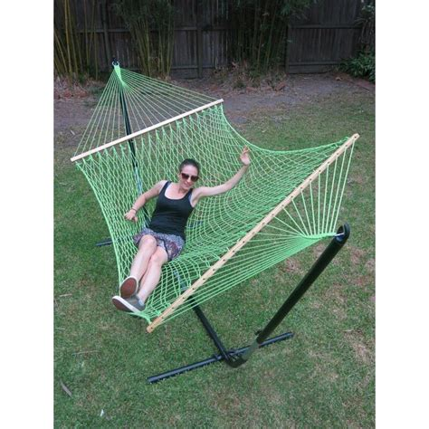 large green cotton rope hammock  spreader bar buy hammocks
