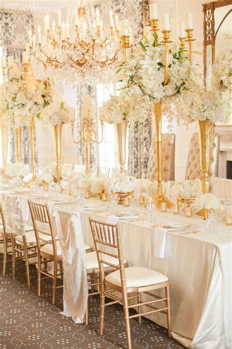glamorous gold  ivory wedding theme elegantweddingca