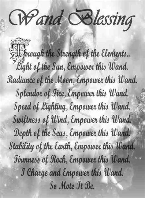 wand blessing spell book  shadows wiccan spell book