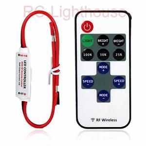 R10  Rf Wireless Remote Controller Mini Dimmer 8 Settings
