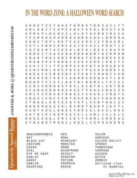free word search quarterly speed bump magazine