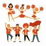 Cheerleading Vector Pom Cheerleader Icons Flat Cheerleaders