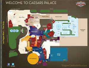 caesars property map casino and hotel layout