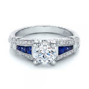 engagement rings seattle deco style blue sapphire and engagement ring 100388 bellevue seattle joseph jewelry