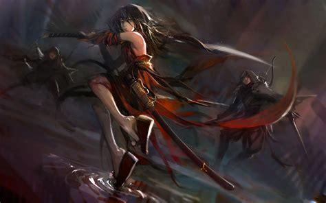 anime fight with sword anime with katana anime fighting katana sword