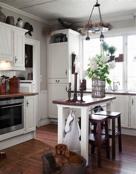 kitchen islands on swedish villa charming home tour town country living 5261