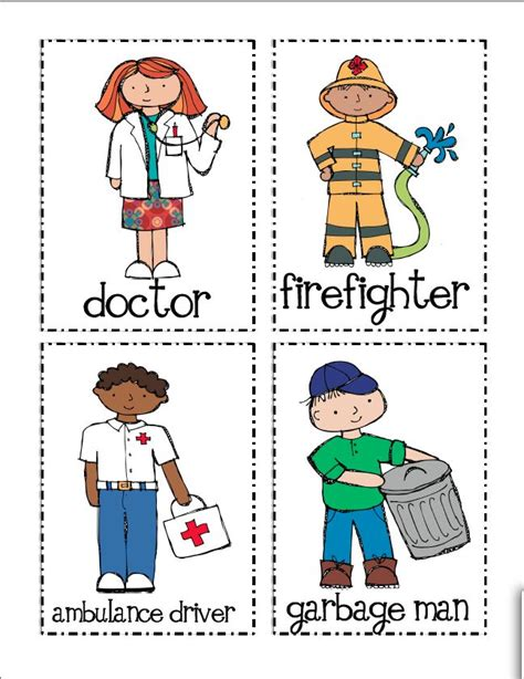 community helpers printables worksheets for all