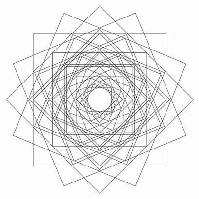 Geometric Drawing Mandala Geometry Sacred Coloring Templates