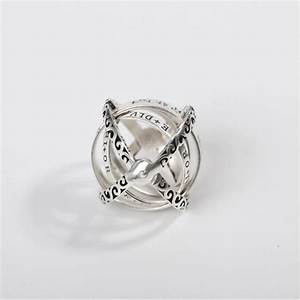 100  925 Sterling Silver Astronomical Sphere Ball Rings In