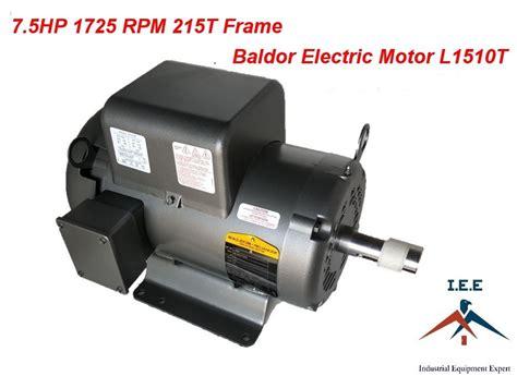 7 5hp single phase baldor electric compressor motor 215t frame l1510t 230 volt ebay