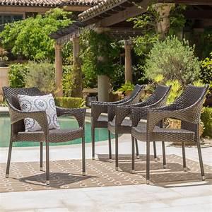 Martin, Outdoor, Wicker, Stacking, Dining, Chairs, Set, Of, 4, Multibrown, -, Walmart, Com