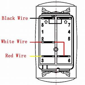 5 Pin On  Off Red Blue Light Bar Rocker Switch With Relay