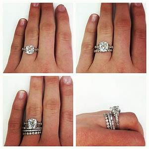 best 25 stacked wedding bands ideas on pinterest With stacked diamond wedding rings