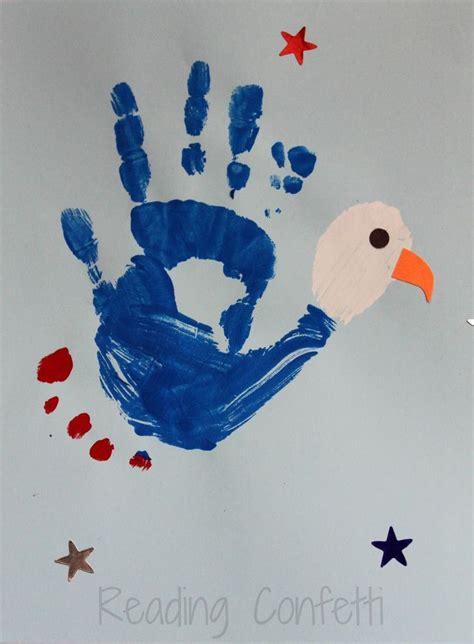 a patriotic bald eagle craft can make from their 565 | 29416bfd447cc73c4502ba167da8be41 fingerprint crafts footprint crafts