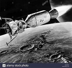 astronautics, Apollo 11, schemata, spaceship with lunar ...