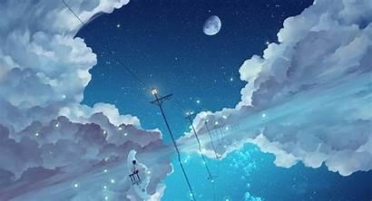 Sky Starry Night Animated Boy Bear Polar